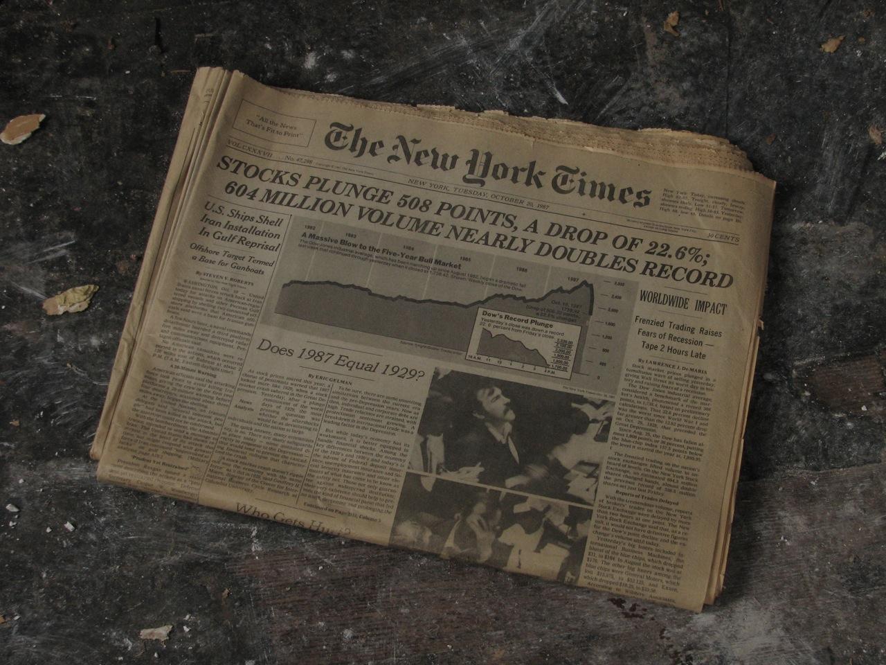 черный понедельник 1987 года