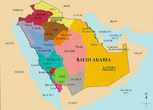 Саудовская Аравия - карта